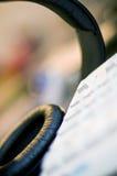 słuchawki klawiaturowi zdjęcie stock