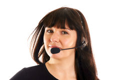 słuchawki kobieta zdjęcia stock