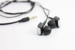 Słuchawki nad białym tłem Zdjęcie Stock