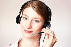 słuchawki piękna biznesowa kobieta Fotografia Royalty Free
