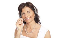 słuchawki recepcjonista obrazy royalty free