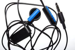 Słuchawki słuchawka z MIC depeszującym fotografia stock