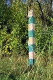 Słup graniczny Zdjęcia Royalty Free
