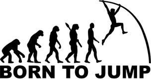 Słup krypty ewolucja Urodzona skakać ilustracji