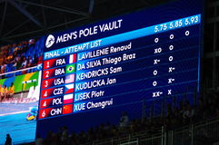 Słup krypty turniejowy finał przy Rio2016 olimpiadami Obrazy Royalty Free