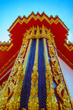 Słup Tajlandzka świątynia Obraz Royalty Free