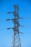 słupa elektryczny wysoki napięcie Fotografia Royalty Free