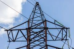 słupa elektryczny wysoki woltaż Zdjęcia Stock