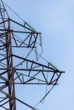 słupa elektryczny wysoki woltaż Zdjęcie Stock