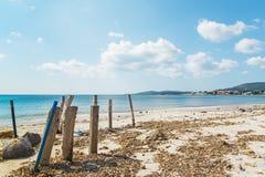 Słupy w Maria Pia plaży obrazy royalty free