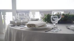 Słuzyć świątecznego stół zbiory