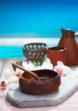 słuzyć ceramiczny słuzyć orzeźwień Obraz Stock
