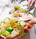 Słuzyć ryba w aspic Fotografia Stock