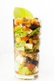 słuzyć szklana sałatka Fotografia Stock