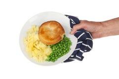 Słuzyć talerz jedzenie Zdjęcia Stock