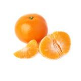 Słuzyć tangerine skład odizolowywający nad Zdjęcia Stock