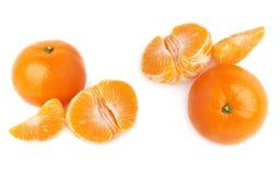 Słuzyć tangerine skład odizolowywający nad białym tłem Obraz Royalty Free