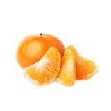 Słuzyć tangerine skład odizolowywający nad białym tłem Fotografia Stock