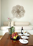 słuzyć willa wino wewnętrzny luksus Obrazy Royalty Free