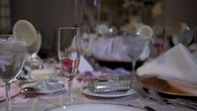Słuzyć wyśmienity ślubu stół zbiory wideo