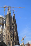 Słynny kościół Gaudi Zdjęcia Stock
