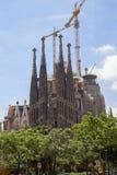 Słynny kościół Gaudi Obraz Royalty Free