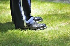 s军人鞋子 免版税库存照片