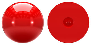 1s原子轨道的形状在白色背景的 免版税库存图片