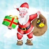 s圣诞老人惊奇 库存照片