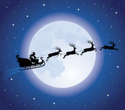 s圣诞老人爬犁 库存图片