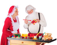 s圣诞老人讨论会 免版税库存照片