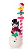 s圣诞老人雪人 图库摄影