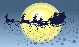 s圣诞老人雪橇 免版税库存照片