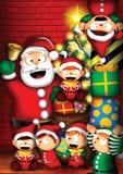 s圣诞老人workshop2 向量例证
