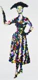 50s完美,当代丙烯酸酯的绘画在20世纪50年代时尚之前启发了 库存例证