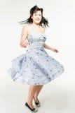 1950´s样式的妇女跳舞 免版税库存图片