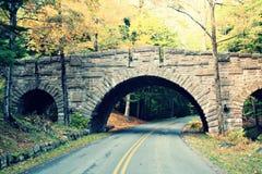 1800's桥梁在缅因 库存照片