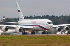 总统` s特别飞行单位的伊柳申IL-96-300PU RA-96012 库存照片