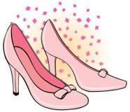 s穿上鞋子妇女 库存照片