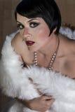 30s美丽的性感的深色的妇女 图库摄影