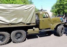 1960-70s苏联军用标准全轮驱动的货物卡车  免版税库存图片