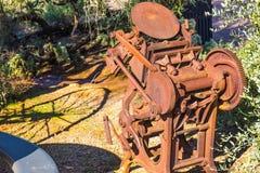 1800 ` s葡萄酒打印压入亚利桑那沙漠 图库摄影