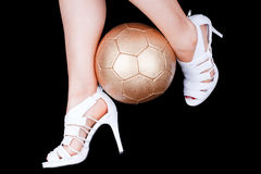 s足球妇女 免版税库存照片