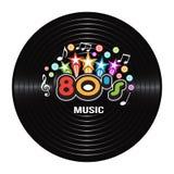 80s音乐唱片分目 库存图片