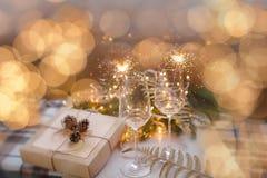 ` S Ève, cadeau de nouvelle année de Noël Photographie stock
