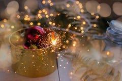 ` S Ève, cadeau de nouvelle année de Noël Photographie stock libre de droits