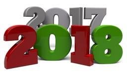` S Ève de la nouvelle année 2018 Illustration Stock
