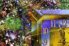 ` S Ève de nouvelle année Avant la nouvelle année cinq minutes Photos libres de droits