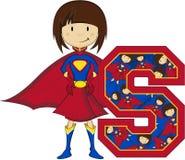 S é para o super-herói ilustração royalty free