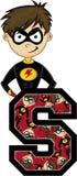 S é para o super-herói ilustração do vetor